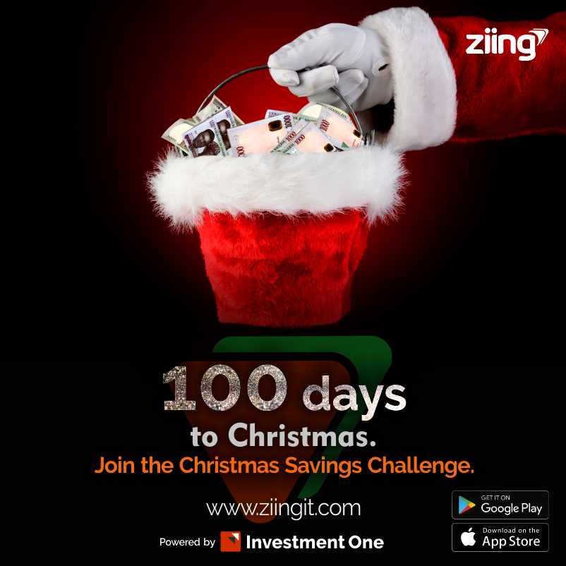 Poster showing Christmas Savings Challenge. Santa with a hat full of gifts and cash prizes